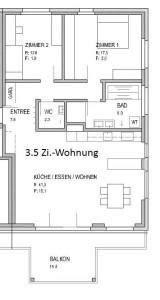 Grundrisse MFH 4.5, 3.5 Zi.-Wohnungen (3)