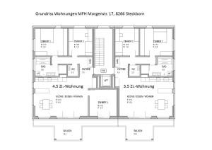 Grundrisse MFH 4.5, 3.5 Zi.-Wohnungen